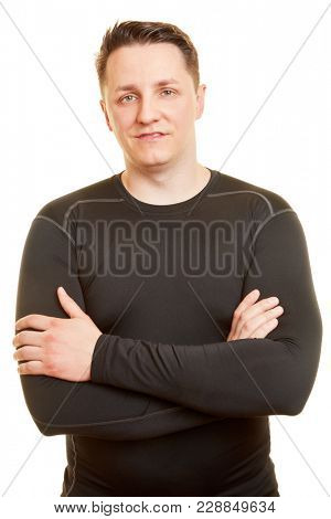 Portrait of man with arms crossed as Personal Trainer on white background