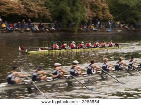 Racing Boats On Water