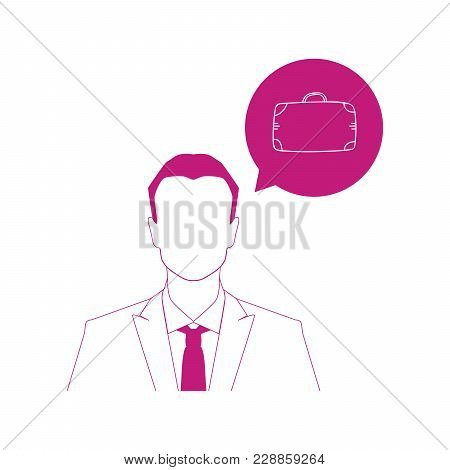 Businessman And Colorful Travel Bug Icon , Vector Illustration.