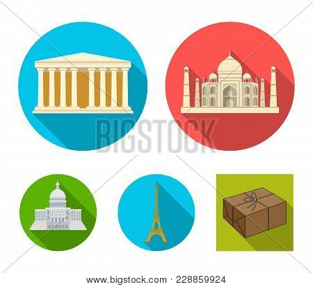 Building, Interesting, Place, Tower .countries Country Set Collection Icons In Flat Style Vector Sym