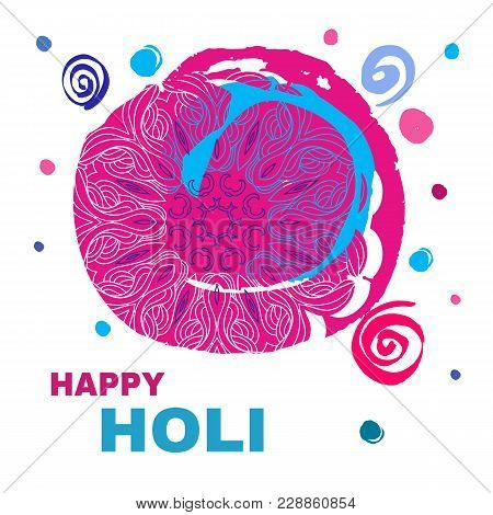 Traditional Indian Festival Holi. Bengali New Year.template For Banner, Poster. Holiday Of Spring.ve