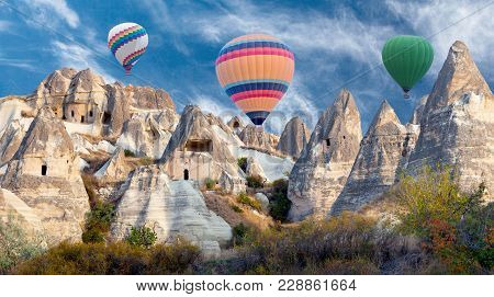 Geological Formations In Cappadocia, Turkey