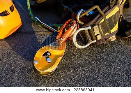 Close Up Industrial Climbing Equipment
