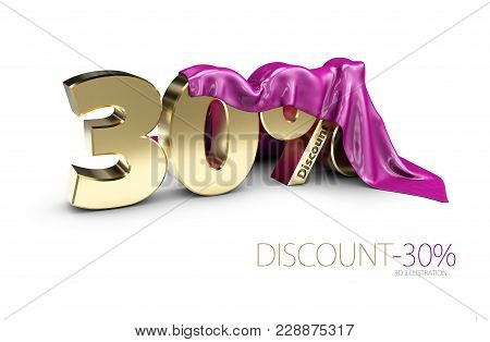 Percentage Discount Sign Under Cloth, Percentage Discount Sign, Percentage Discount Sign, 3dillustra