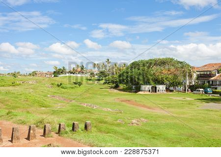 Galle, Sri Lanka, Asia - Traditional Living Within The Historical Town Wall Of Galle
