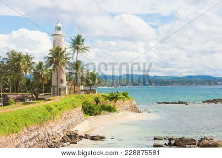 Galle, Sri Lanka, Asia - Visiting The Old Lighthouse Of Galle