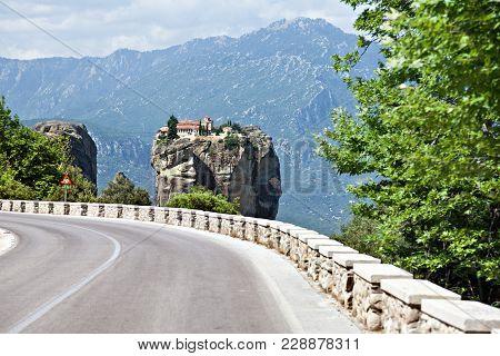Road To Holy Trinity Monastery. Meteora, Greece.
