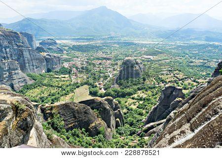Thessaly Valley, The Village Of Kastraki, Meteora, Greece.