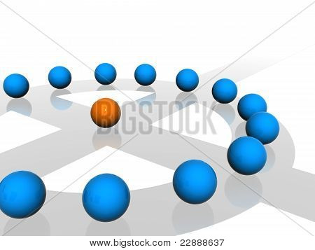 Conceptual network of spheres