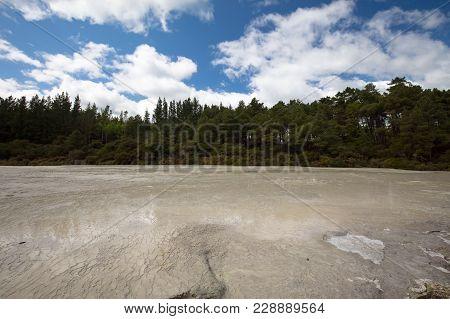 Bridal Veil Falls Is A Terraced Geological Feature At Wai-o-tapu Geothermal Wonderland Near Rotorua