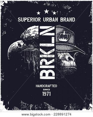 Vintage Urban Typography, T-shirt Graphics, Vector Illustration