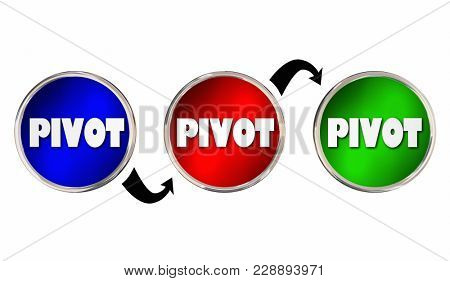Pivot Change Course New Business Model 3d Illustration
