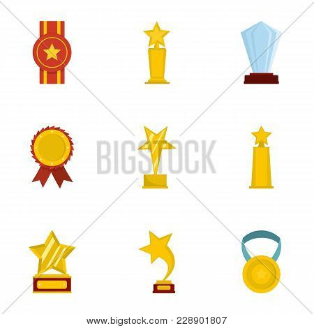 Lay Icons Set. Cartoon Set Of 9 Lay Vector Icons For Web Isolated On White Background