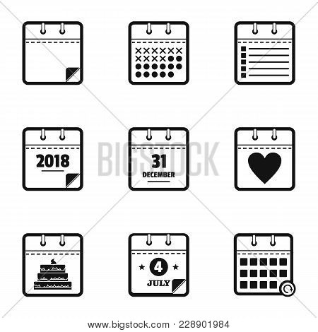 Timeline Icons Set. Simple Set Of 9 Timeline Vector Icons For Web Isolated On White Background