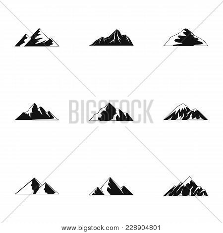 Altitude Icons Set. Simple Set Of 9 Altitude Vector Icons For Web Isolated On White Background