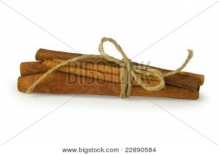 Cinnamon Sticks Twisted By The String