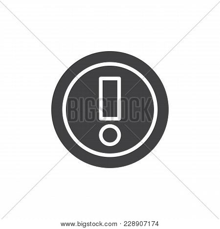 Warning Vector Icon. Filled Flat Sign For Mobile Concept And Web Design. Exclamation Point Simple So