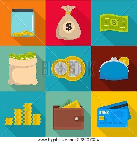 Moneymaking Icons Set. Flat Set Of 9 Moneymaking Vector Icons For Web Isolated On White Background