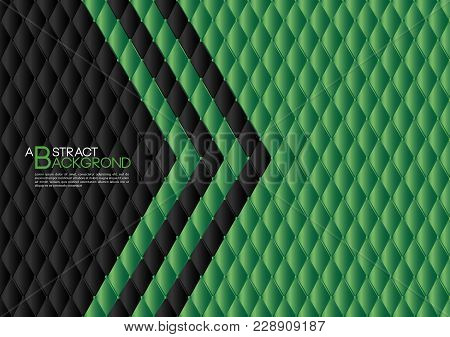 Black And Green Abstract Background Vector Illustration, Cover Template Layout, Business Flyer, Leat