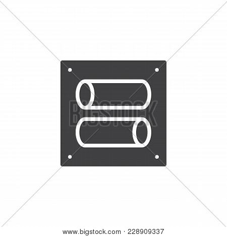 Toggle Switch Vector Icon. Filled Flat Sign For Mobile Concept And Web Design. Tumbler Simple Solid
