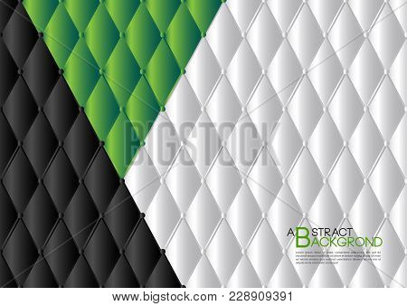White And Green Abstract Background Vector Illustration, Cover Template Layout, Business Flyer, Leat