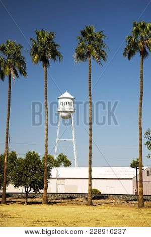 Gilbert Water Tower And Mural In Gilbert, Arizona