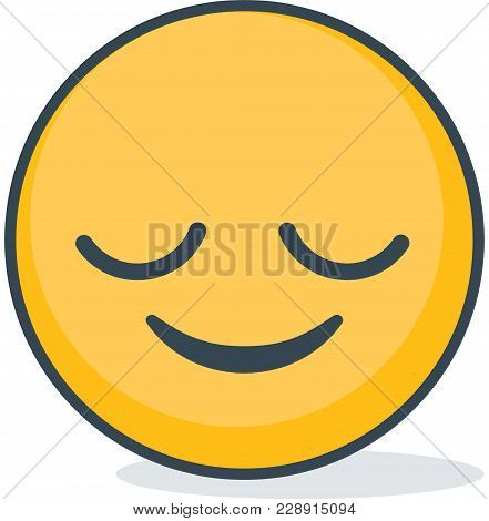 Isolated Bliss Emoticons. Isolated Vector Emoticon On White Background.