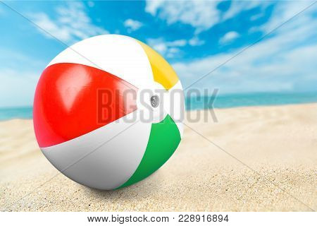 Ball Beach Sand Sandy Close Up Beach Ball Sport