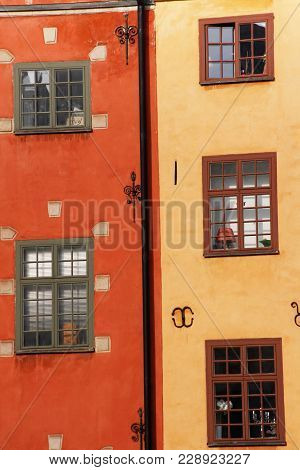 Historical Buildings In The Old Town Of Stockholm