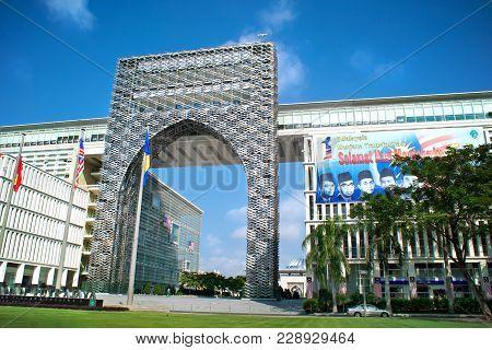 Putrajaya, Malaysia - September 2nd, 2010: Government Building At The Superb Boulevard Persiaran Per