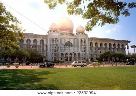 Palace Of Justice At The Splendid Boulevard Persiaran Perdana In The Planned City Putrajaya, South O