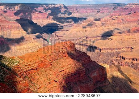 Morning View From Hopi Point Grand Canyon South Rim
