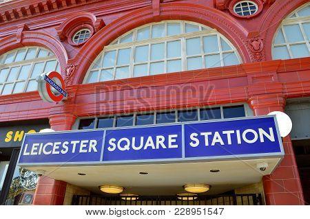 Universal Studios Resort, Orlando, Florida, Usa - October 24, 2016: Leicester Square Train Station I