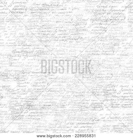 Text Poem Pastel Shade Letter Word Hand Drawn Seamless Pattern