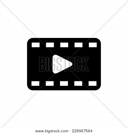 Film Strip Icon Isolated On White Background. Film Strip Icon Modern Symbol For Graphic And Web Desi
