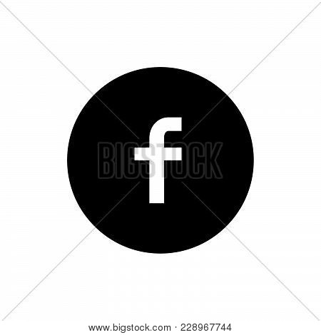 Facebook icon isolated on white background. Facebook icon modern symbol for graphic and web design. Facebook icon simple sign for logo, web, app, UI. Facebook icon flat vector illustration, EPS10.