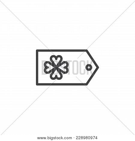 Saint Patrick's Day Gift Tag Outline Icon