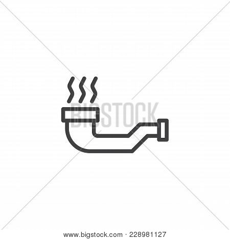 Smoking Pipe Outline Icon. Linear Style Sign For Mobile Concept And Web Design. Tobacco Pipe Simple