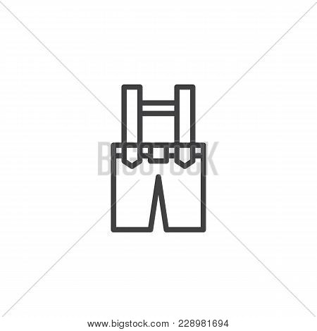 Leprechaun Trousers Clothes Outline Icon. Linear Style Sign For Mobile Concept And Web Design. Pants
