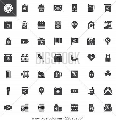 Saint Patrick's Day Vector Icons Set
