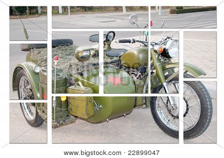 750B-2 motorcycle with a sidecar