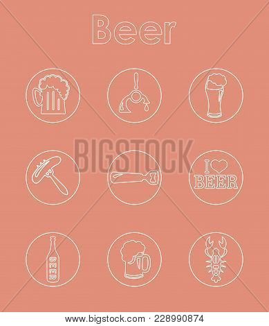 It Is A Set Of Beer Simple Web Icons