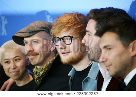 Ed Sheeran poses at the 'Songwriter' photo call during the 68th Film Festival Berlin at Grand Hyatt Hotel on February 23, 2018 in Berlin, Germany.