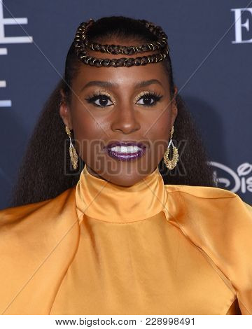 LOS ANGELES - FEB 26:  Issa Rae arrives for the