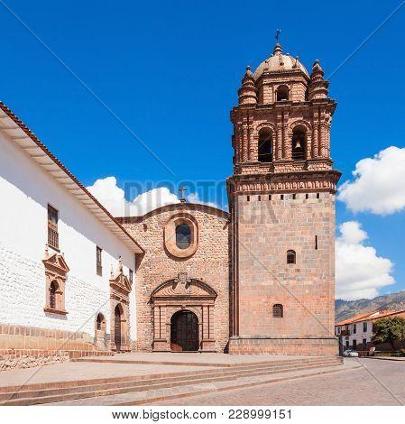 Church Of Santo Domingo Also Known As Qurikancha Temple In Cusco, Peru