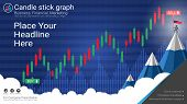 Candlestick and financial graph charts, Infographic presentations template, Global network connection and Business analytics, Forex stock market investment trading, Bullish point, Bearish point. poster