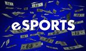 eSports Money Winnings Best Player Tournament 3d Illustration poster