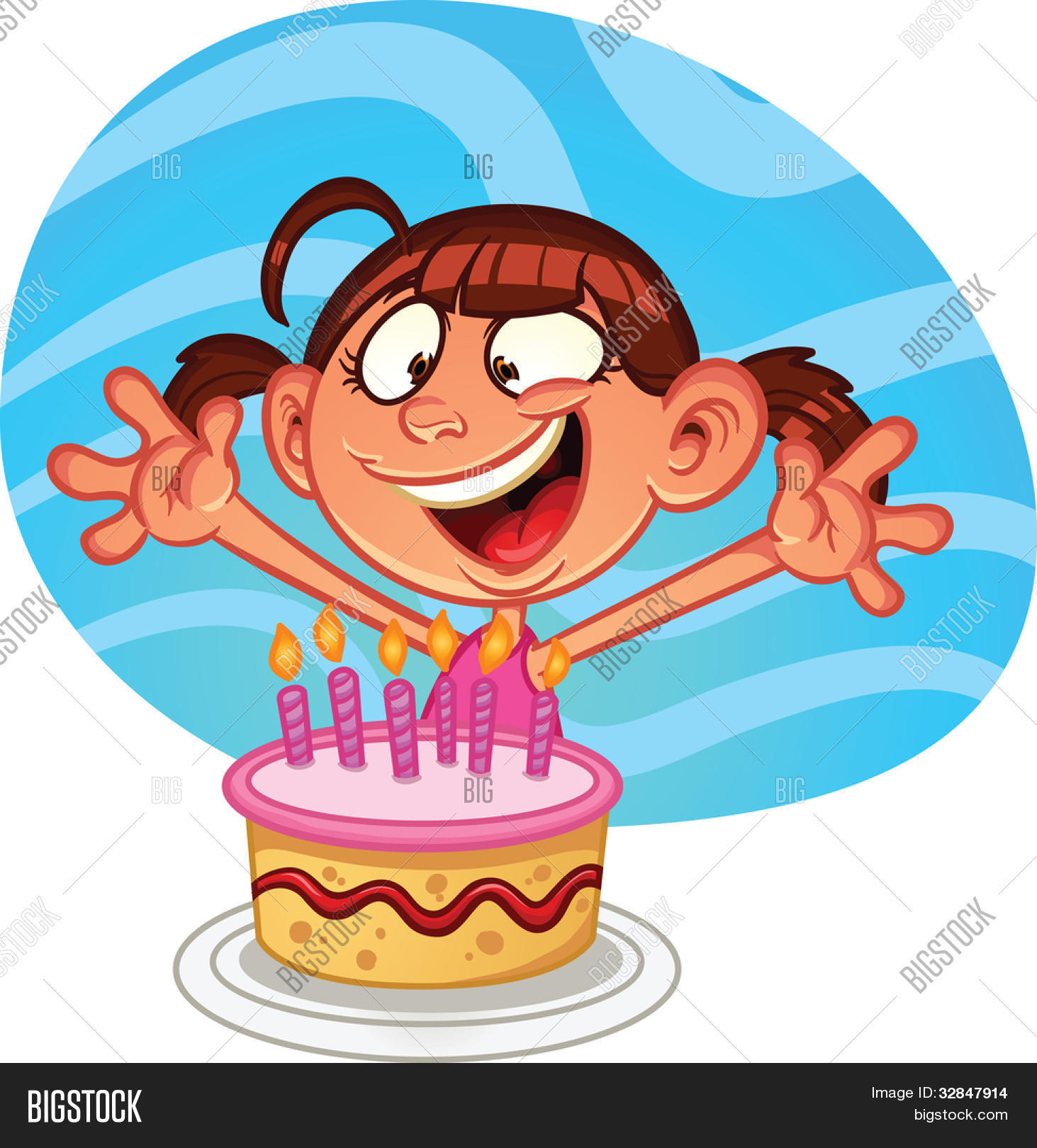 Swell Cute Cartoon Birthday Vector Photo Free Trial Bigstock Funny Birthday Cards Online Inifodamsfinfo