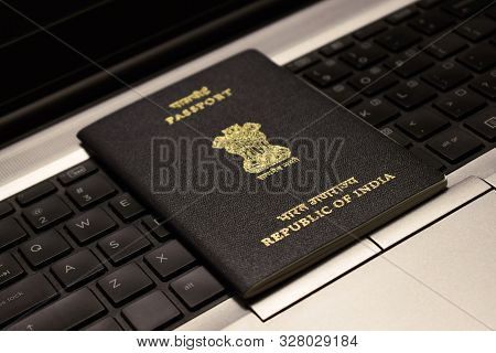 Abstract Background Of Passport, Indian Passport, Indian Visa, Travel Document, Travel Technology Co