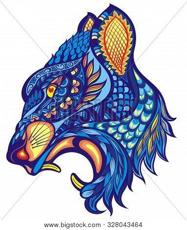 Decorative Animal Portrait.puma, Tiger Symbol For Your Design